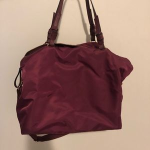Maroon Duffel Weekend Bag